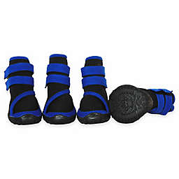 Pet Life® Premium Cone High Support Performance Small Dog Shoes in Black/Blue
