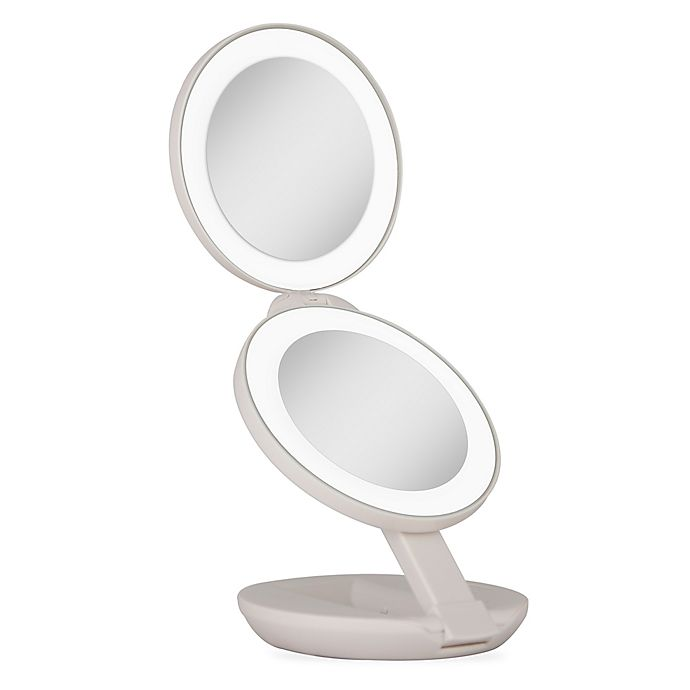 Zadro 1x 10x Led Lighted Travel Mirror