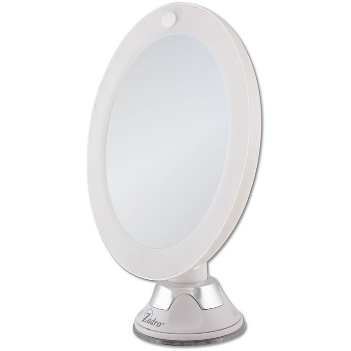 Alternate image 1 for Zadro® 10x Cordless LED Lighted Wall Mount Mirror