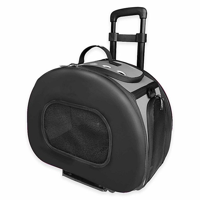 Alternate image 1 for Tough-Shell Wheeled Collapsible Pet Carrier in Black
