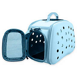 Narrow Shell Lightweight Collapsible Pet Carrier in Light Blue
