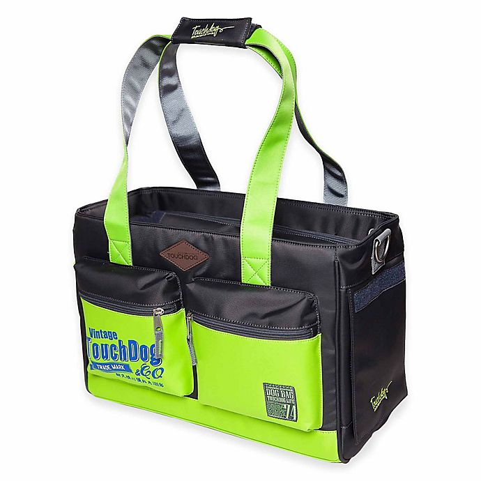 Alternate image 1 for Touchdog Active-Purse Water-Resistant Dog Carrier in Yellow/Green