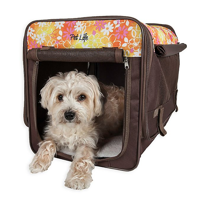 Alternate image 1 for Floral Folding Zippered  Pet Crates