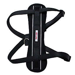 Easy Pull Small Adjustable Chest Compression Reflective Dog Harness in Black
