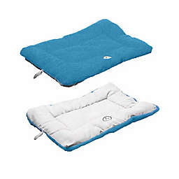 Pet Life® Reversible Large Pet Bed Mat in Blue/Aqua
