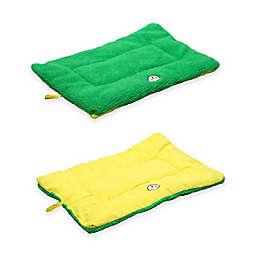 Pet Life® Reversible Medium Pet Bed Mat in Green/Yellow