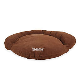 Velvet Microfiber Bolster Pet Bed