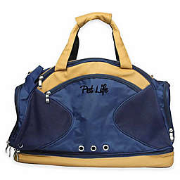 Multi-Storage Fashion Pet Carrier Tote in Blue/Brown
