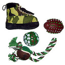 Hunter-Themed 4-Piece Pet Toy Set in Camouflage