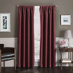 Sebastian 95-Inch Rod Pocket Insulated 100% Blackout Window Curtain Panel in Burgundy