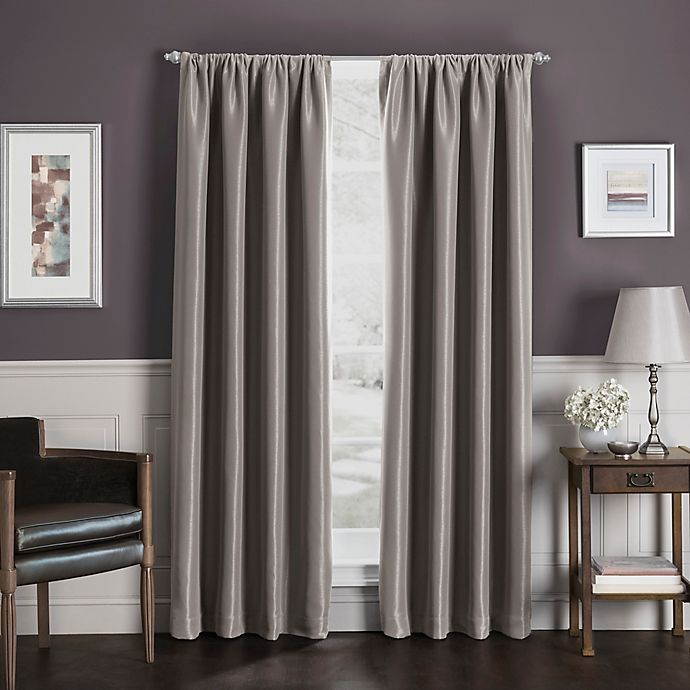 Alternate image 1 for Sebastian Rod Pocket Insulated 100% Blackout Window Curtain Panel