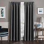 Sebastian 95-Inch Rod Pocket Insulated Total Blackout™ Window Curtain Panel in Charcoal