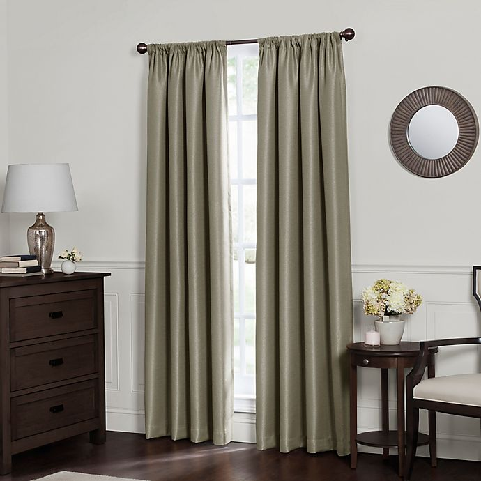 Alternate image 1 for Emery Rod Pocket Insulated 100% Blackout Window Curtain Panel