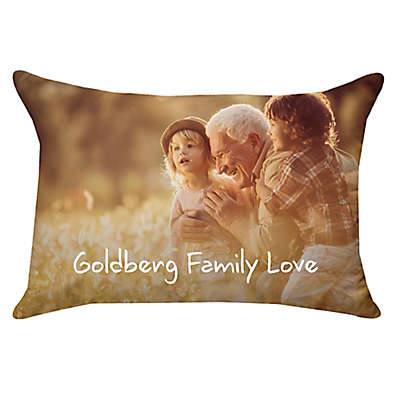 14-Inch x 20-Inch Rectangle Dual Sided Photo Faux Down Throw Pillow