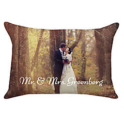 14-Inch x 20-Inch Rectangle Dual Sided Photo Faux Linen Throw Pillow