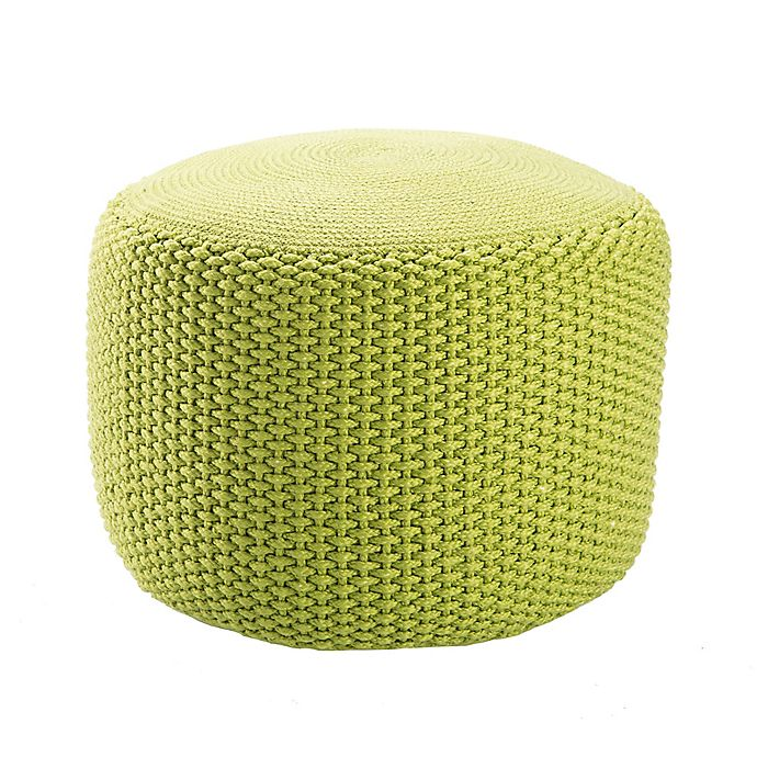 Alternate image 1 for Jaipur Rustic Solid Pattern Pouf