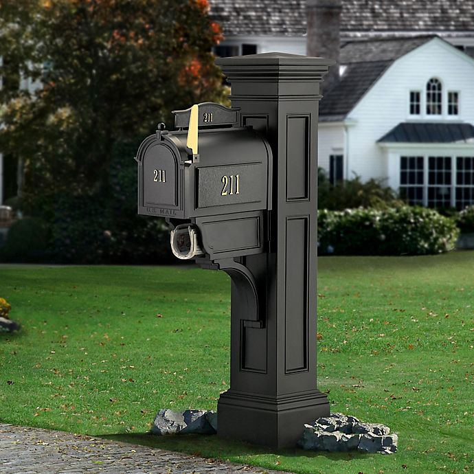 Alternate image 1 for Mayne Liberty Mail Post in Black