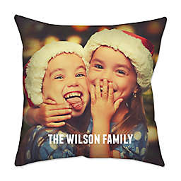 Square Dual Sided Photo Poplin Throw Pillow