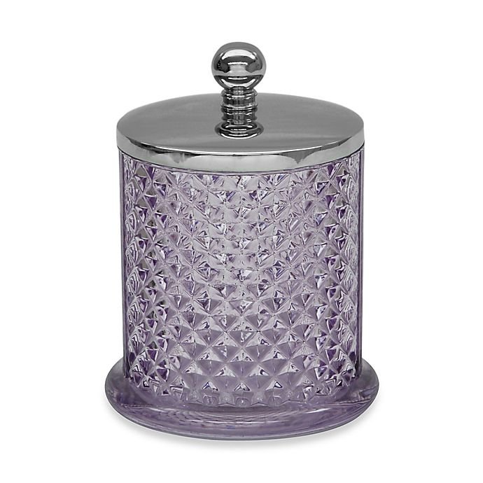 Jessica Simpson Diamond Cut Covered Jar In Purple Bed Bath