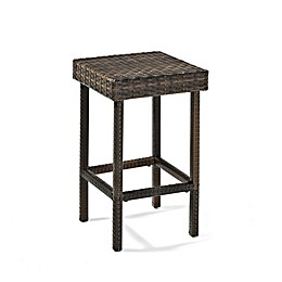 Crosley Palm Harbor Wicker Stools in Brown (Set of 2)