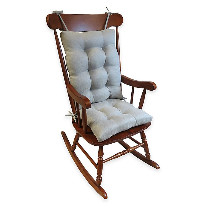 Alternate image 1 for Klear Vu Omega Extra-Large 2-Piece Rocking Chair Pad Set in Grey