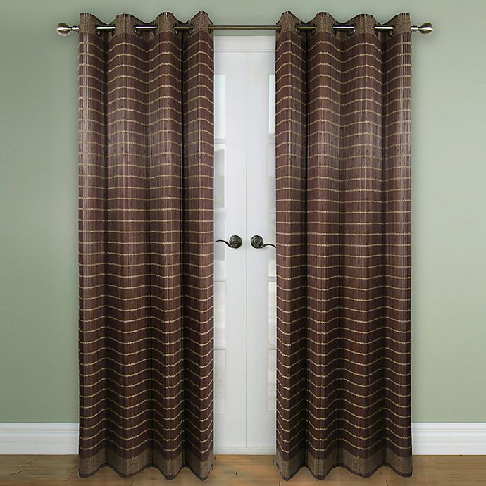 Versailles Home Natural Sustainable Bamboo Grommet Window Curtain Panel And Valance