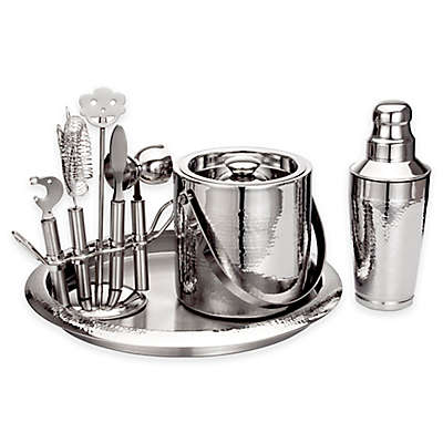 Godinger® Hammered Stainless Steel Bar Set