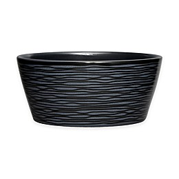 Noritake® Black on Black Swirl Round Fruit Bowl