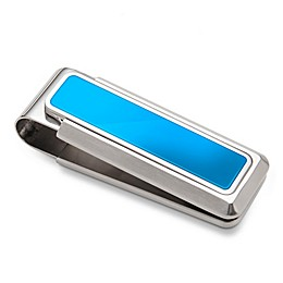 M-Clip Stainless Steel Enamel Inlay Heat Tempered Spring Money Clip