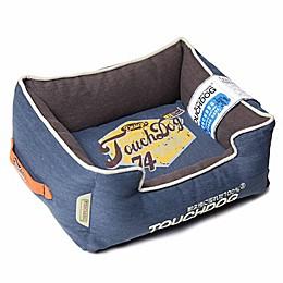 Touchdog® Sporty Vintage Throwback Rectangular Dog Bed