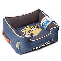 Touchdog® Sporty Vintage Throwback Large Rectangular Dog Bed in Green/Brown