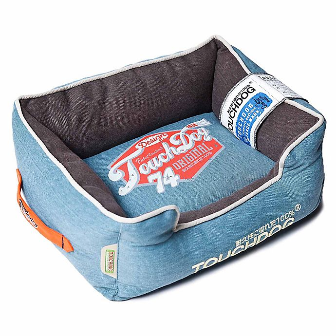 Alternate image 1 for Touchdog® Sporty Vintage Throwback Rectangular Dog Bed