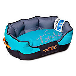 Toughdog Performance-Max Sporty Comfort Cushioned Medium Dog Bed in Blue/Black