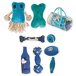 Pet Life® Duffel Bag 8-Piece Dog Toy Set
