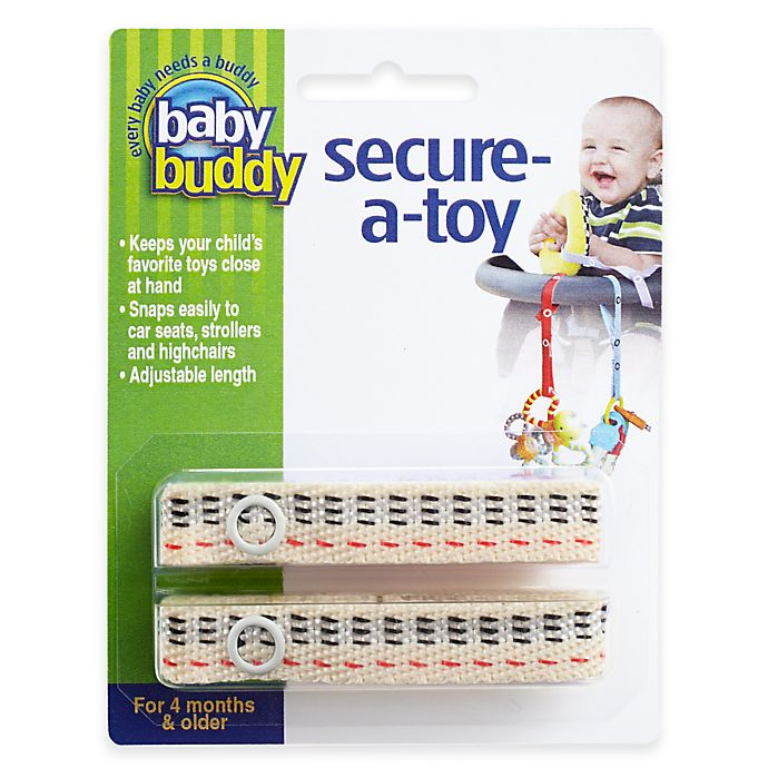 Alternate image 1 for Baby Buddy® 2-Pack Secure-A-Toy in Tan