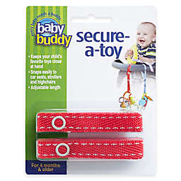 Baby Buddy® 2-Pack Secure-A-Toy in Red/White