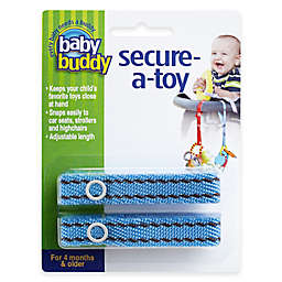 Baby Buddy® 2-Pack Secure-A-Toy in Blue/Brown