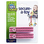 Baby Buddy® Secure-a-Toy Straps in Pink/Brown (Set of 2)
