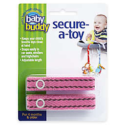 Baby Buddy® 2-Pack Secure-A-Toy in Pink/Brown