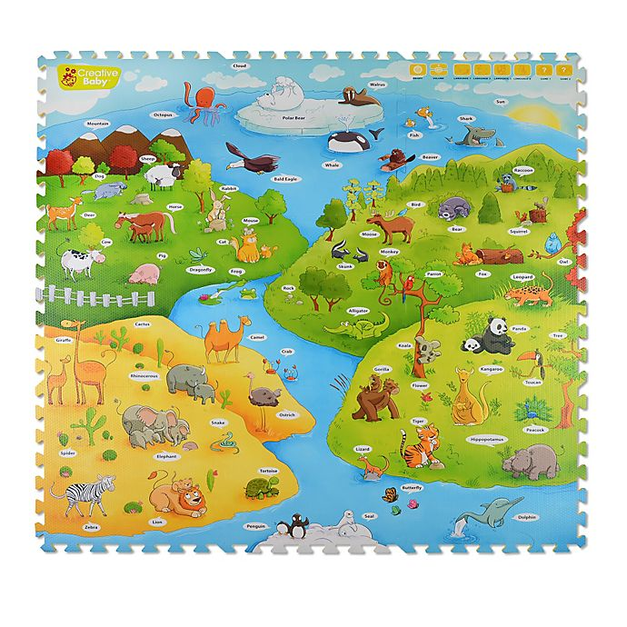 Alternate image 1 for Creative Baby My Animal World 4-Piece i-Mat™