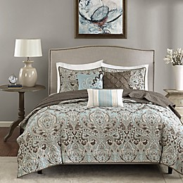 Madison Park Geneva 6-Piece Coverlet Set in Brown