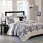 Madison Park Cali 6-Piece Quilted Full/Queen Coverlet Set