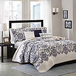 Madison Park Cali 6-Piece Quilted Coverlet Set
