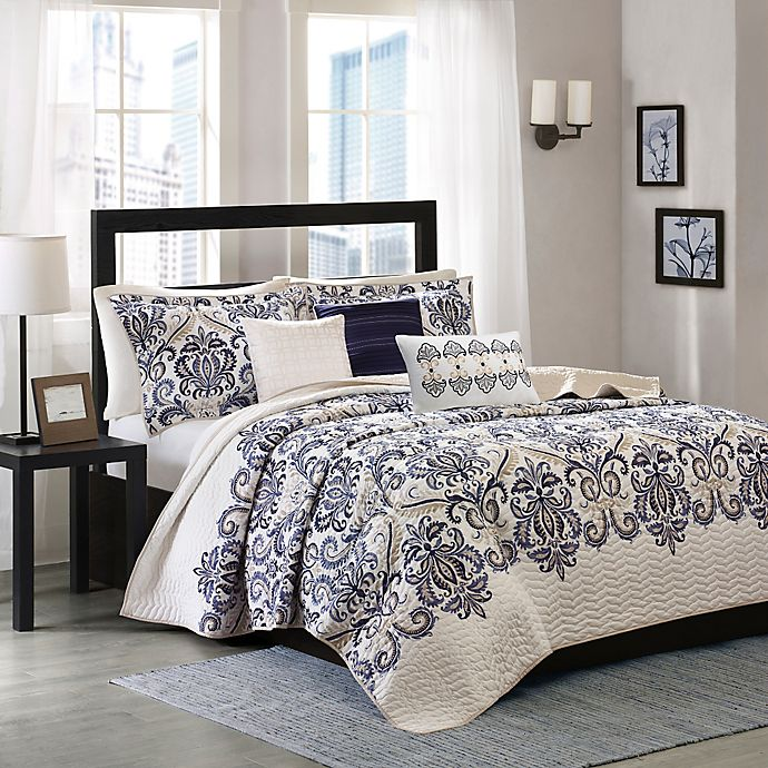 Alternate image 1 for Madison Park Cali 6-Piece Quilted Coverlet Set