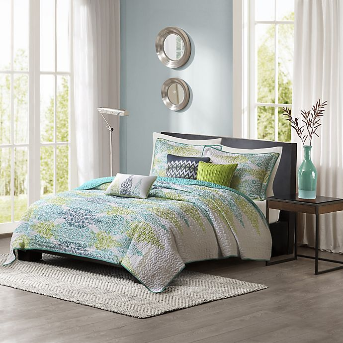 Alternate image 1 for Madison Park Sonali 6-Piece Quilted King/California King Coverlet Set in Blue