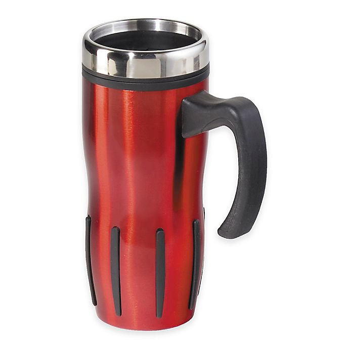 Alternate image 1 for Oggi™ Lustre 16 fl. oz. Multi-Grip Stainless Steel Travel Mug