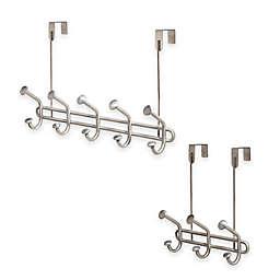 InterDesign® Forma Ultra Over-the-Door Hook Rack in Brushed Stainless Steel