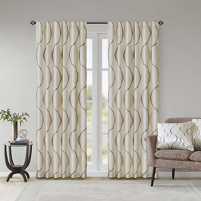 Alternate image 1 for Madison Park Serendipity 84-Inch Rod Pocket/Back Tab Window Curtain Panel in Ivory