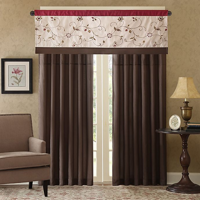 Madison Park Serene Window Curtain Panel And Valance