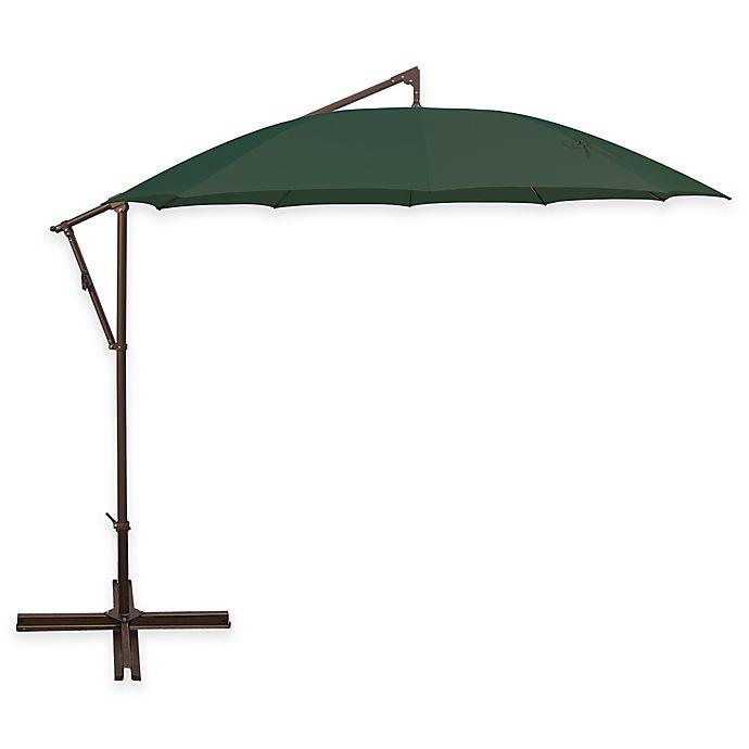 Alternate image 1 for SimplyShade Santorini 10-Foot Round Cantilever Umbrella in Ginkgo